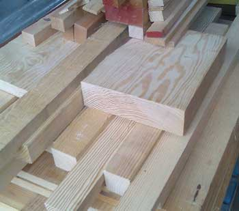 Assorted timber types - wood cut, planed and laminated to your sizes